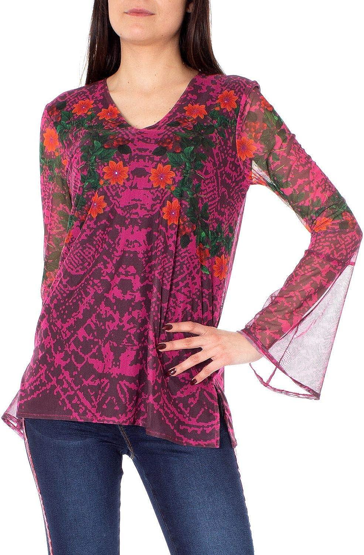 Desigual Women's 19SWTKBMFUCHSIA Fuchsia Polyester TShirt