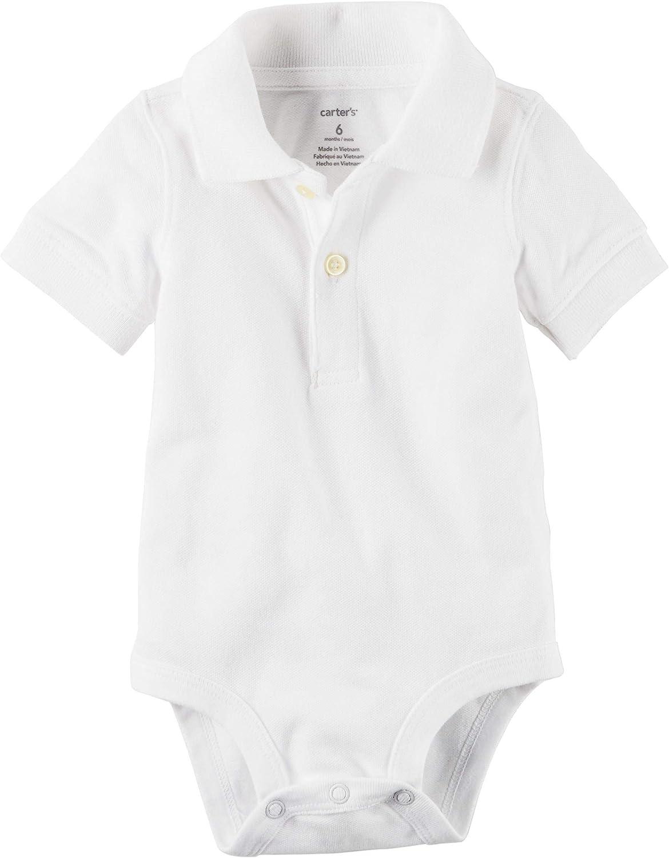 Carter's Baby Boy's Short Sleeve Pique Cotton Polo Bodysuit