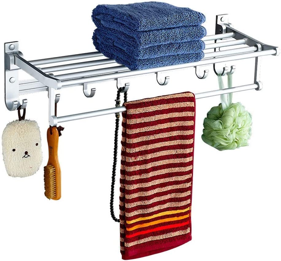 Towel Holder Creative Department Japan Maker New store Foldable Space Wall- Aluminum