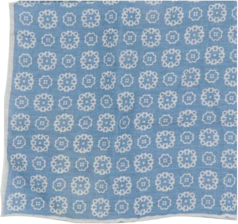 Italo Ferretti Men's Linen Floral Medallion Pocket Square