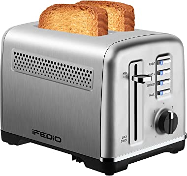 Toaster 2 Slice Best Rated Prime Stainless Steel Toasters with Removable Crumb Tray Two Slice Toaster with Quick Check/ Rehea