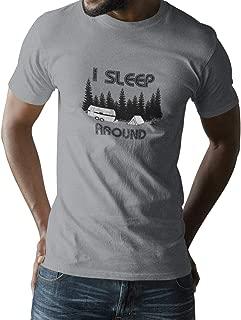 i sleep around camping shirt