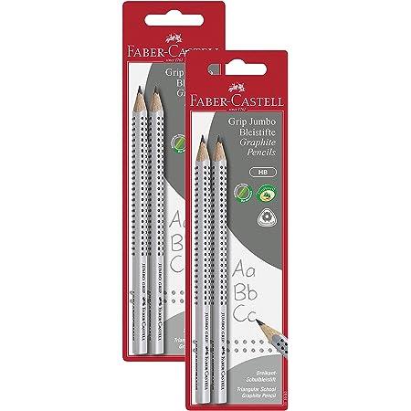 Faber-Castell 111992 - Bleistift Jumbo Grip HB (2er Pack, Bleistift Jumbo, 2 Packungen)