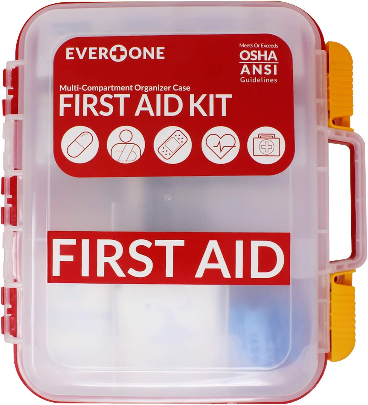 EverOne 354 Piece Hard Case Time sale First Kit OSHA Aid 2021new shipping free shipping ANSI and Exceeds