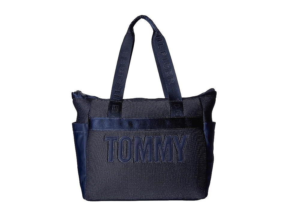Tommy Hilfiger Neva Mesh Tote (Tommy Navy) Handbags