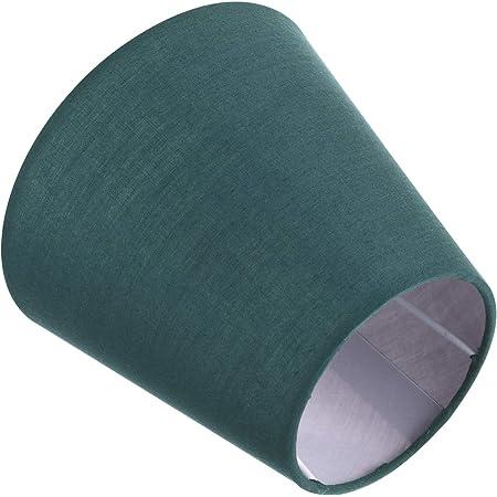 Uonlytech Abat-Jour en Tissu Abat-Jour Baril de Lustre Araignée de Forme Empire/Abat-Jour pour Lampe de Table Suspension sur Pied 5. 5X5. 5 X 5 Pouces Vert Noirâtre