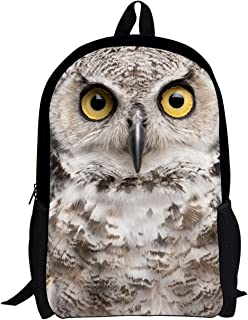 Owl Lightweight Anime Backpack For Kids Cool Cute Animal Printed Schoolbags