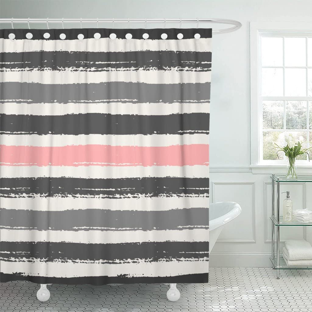Directly managed Indefinitely store Emvency Shower Curtain Watercolor Pastel Gra Light Dark and Pink