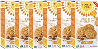Simple Mills Crunchy Cookies, Toasted Pecan, 5.5 Ounce, 6 Count