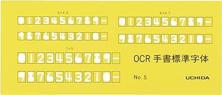 ウチダ テンプレート OCR定規 No.5 1-843-1634
