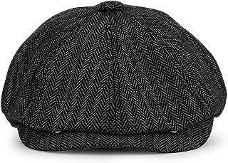 KeepSa Newsboy Casquillo Plano Sombreros Baker Boy Gorras - 8 Panel Peaky Herringbone Tweed Gatsby Hat Ivy Irish Cap para ...