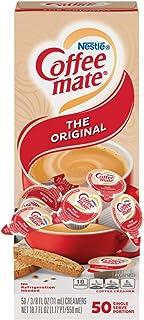 Nestle Coffee mate Coffee Creamer, Original, 0.375oz Liquid Creamer Singles, Box of 50 Singles