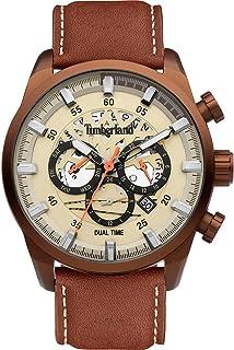 Timberland Orologio Analogueico Quarzo Uomo con Cinturino in Pelle TDWGF2100604