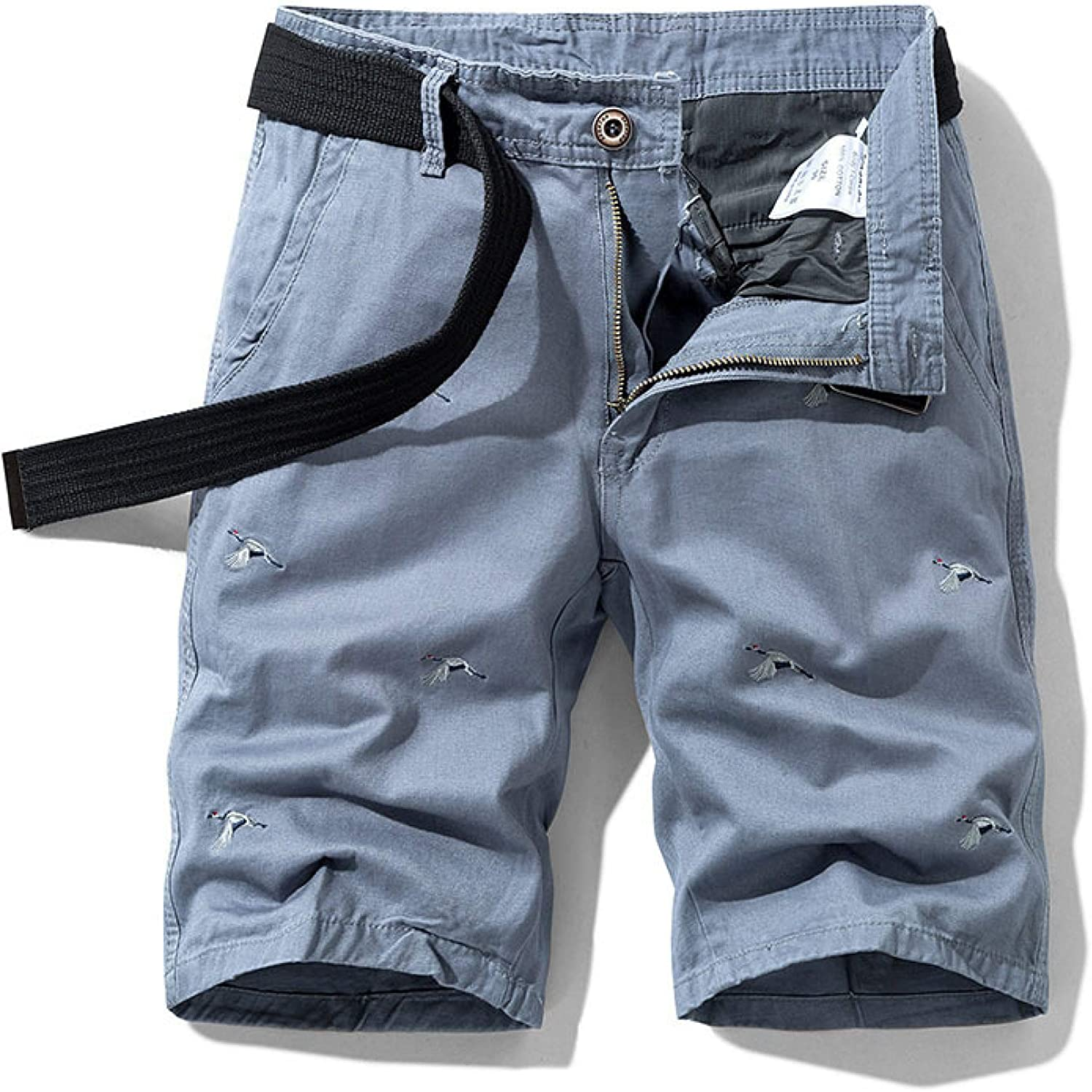 Wantess Men's Cargo Shorts Summer Fashion Trend Embroidery Loose Comfortable Breathable