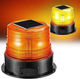 solar amber flashing light