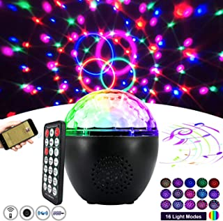 2019 New Bluetooth Disco Ball Light 16-Color Party Lights Strobe Light Sound Activation Strobe Light with Remote Control Stage Light with dimming Party Birthday KTV DJ bar car Holiday Decoration