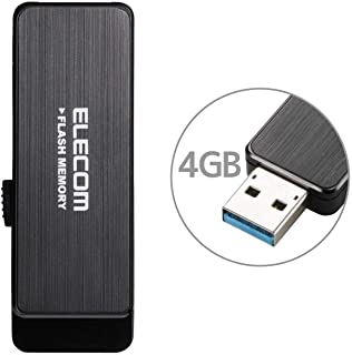 エレコム USBメモリ 4GB USB3.0 情報漏洩対策 パスワードロック ハードウェア暗号化機能搭載 ブラック MF-ENU3A04GBK