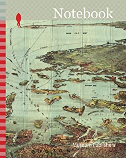 Notebook: 1890, View Map of Boston Habor from Boston to Cape Cod and Provincetown