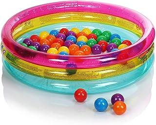 com-four® Piscina de Pelotas - Piscina Infantil con Pelotas de Colores para Jugar - Mini Piscina Inflable para niños pequeños