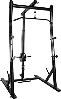 CAP Barbell Power Cage with High-Low Pulleys, Black