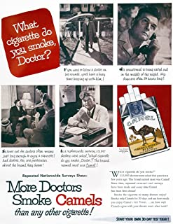 Camel Cigarette Ad 1946 NMore Doctors Smoke Camels Than Any Other Cigarette Advertisement For Camel Cigarettes From An American Magazine 1946 Poster Print by (24 x 36)