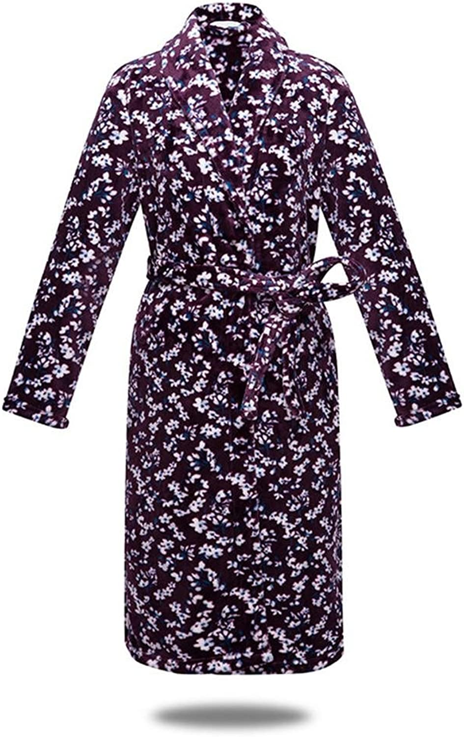 DMMSS Women Flannel Bathrobes Thicker Section Nightgown Home Clothing Pajamas
