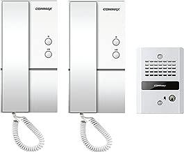 Commax Audio Doorphones and Vandal-Proof Doorbell Kit 2 to 1 DP-LA01/DR-2GN