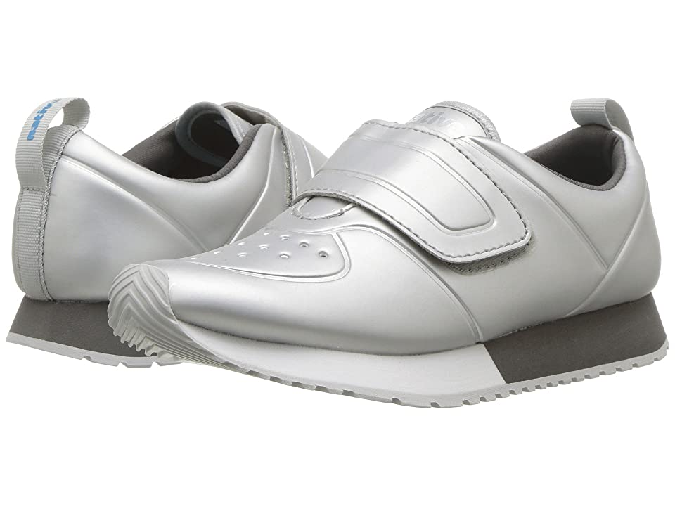 Native Kids Shoes Cornell HL Metallic (Little Kid) (Silver Metallic/Shell White/Dublin Grey/Mist Rubber) Girls Shoes