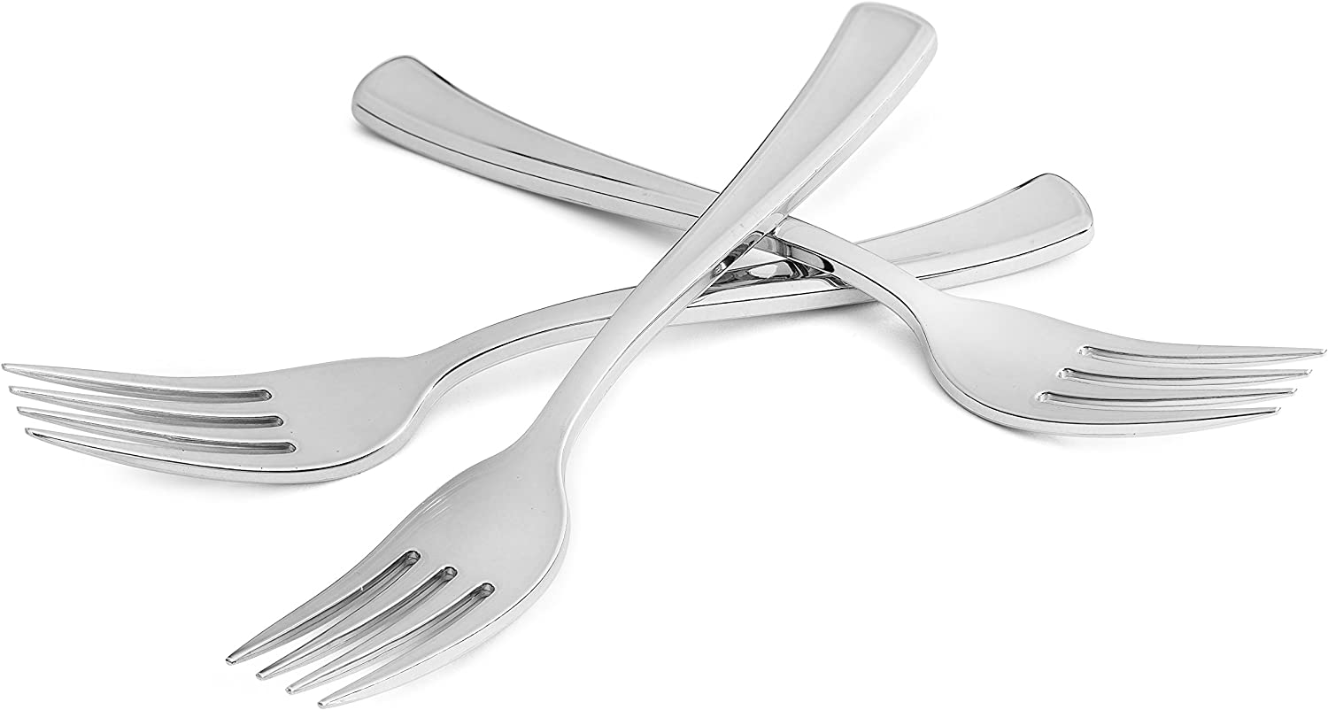 Disposable Silver Sacramento Mall mart Forks - 24 Count Plastic