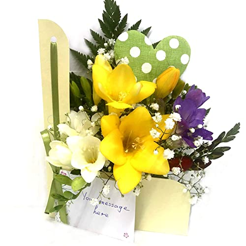 cf0a4ee70af6 Flowers Delivered - Flowers - Rainbow Flower Card - Direct from our  Guernsey Greenhouse - Fresh