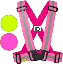 Tuvizo Sport Reflective Vest for Running | Cycling | Walking. High Visibility Reflective Gear for Day & Night with Emergency ID Label. Adults & Kids