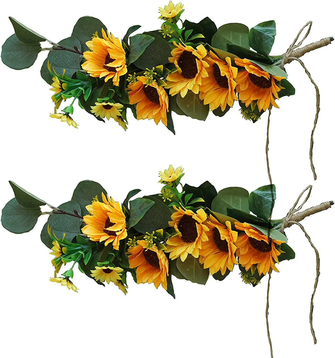 Limited price sale Juoyyo Artificial Flower Swag Simulation Sunflower Wreath Hangin Raleigh Mall