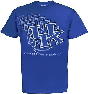 University of Kentucky Wildcats UK UK 3D Basketball T Shirt Blue