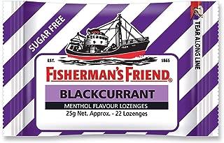Fisherman's Friend Blackcurrant Sugar Free, Blackcurrant Flavour Menthol Lozenges, 25 g, Blackcurrant Sugar Free