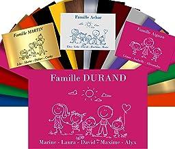 Huisnummerplaat, personaliseerbaar, voor brievenbussen - PVC-bord met gravure - 12 x 8 cm - 24 motieven en 21 kleuren verk...