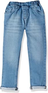 Giggles Elastic-Waistband Faded Whiskered Regular-Fit Jeans for Boys