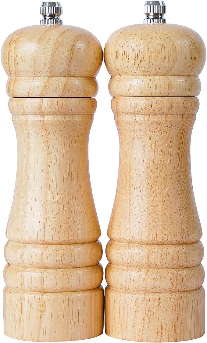 327 opinioni per DeroTeno Macina Sale e Pepe, Macinino in Ceramica Dura e Regolabile, Legno di