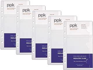 Day-Timer 商务或信用卡盒,便携尺寸,9.53 x 17.69 cm,每包 5 张,透明 (D87125B)