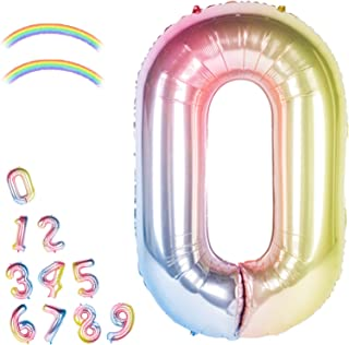 40 Inch Giant Foil Balloons Gradient Color Number Ballons Balloons,Number 0