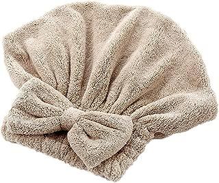 BAND Pcs Solide Bonnets Douche Enveloppe Serviettes Bain Microfibre Chapeaux Bow Rapidement Cheveux Secs Hat Femmes Filles Lady Cheveux Secs Bonnet Bain  Color CO