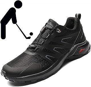 Golfschoenen Heren, Trainings- outdoorschoenen Klimschoenen Professionele golfschoenen Groot 40-50 Legergroen Rood Zwart G...