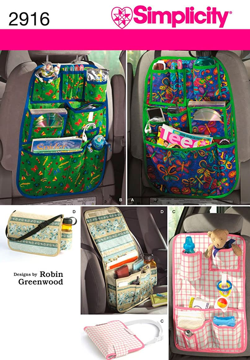 Simplicity Robin Greenwood Pattern 2916 Car Organizers in 4 Styles