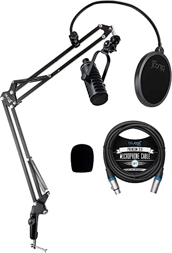 popular MXL BCD-1 Dynamic Mic for Live Broadcasts, Podcasting, online Vocal discount Recording Bundle with Microphone Windscreen, Blucoil Boom Arm Plus Pop Filter, and 10-FT Balanced XLR Cable outlet online sale