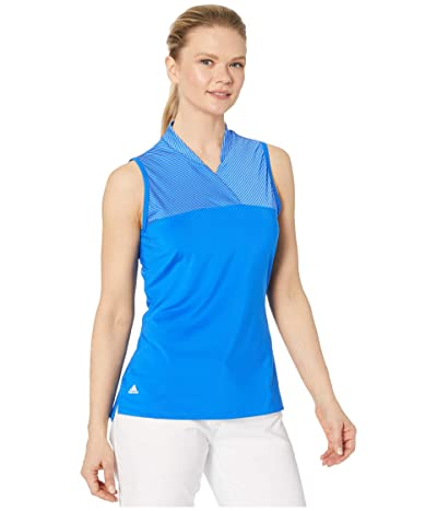 adidas Golf Crossover Polo Shirt (Glory Blue) Women