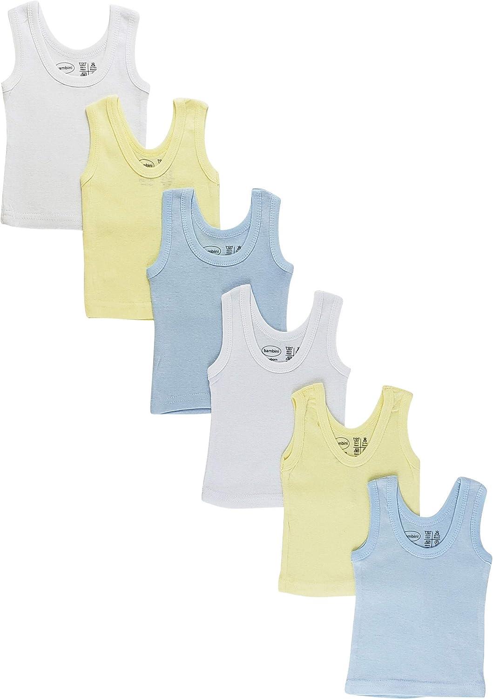 Baby Sleeveless Tank Tops 100% Cotton Shirts, Short Sleeve Tees 0-24 Months Boys, Girls, Unisex