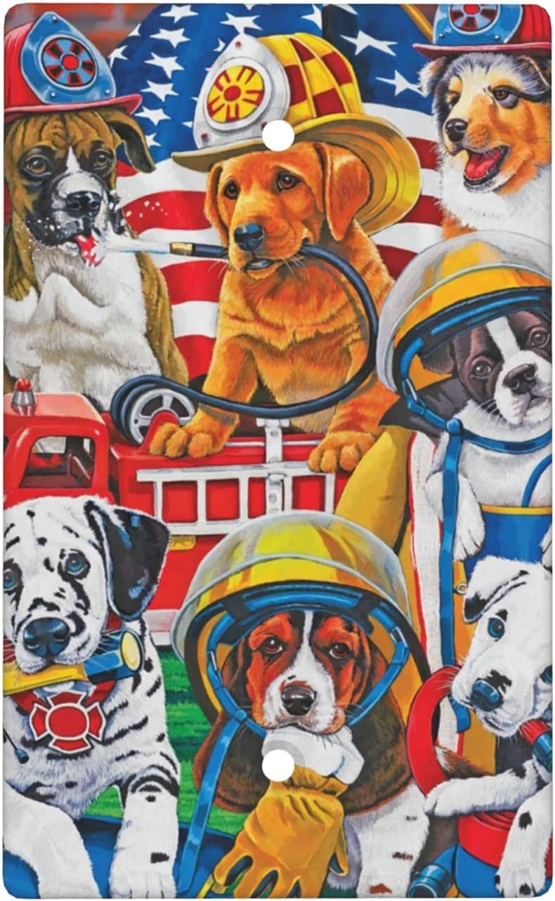 Firemen Dog Team Super sale period limited Blank Cover Wall 4.5 Size X 2.76 Standard Plate Ranking TOP14