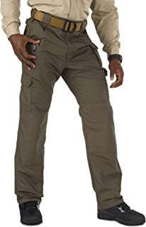 5.11 Tactical Men's Taclite Pro Lightweight Performance Pants, Cargo Pockets, Action Waistband, Style 74273, Tundra, 46W x Unhemmed L