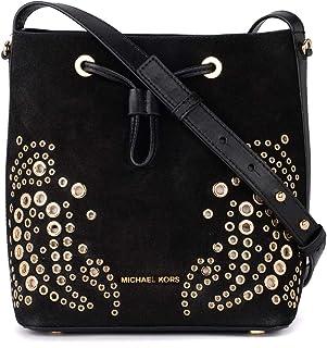 50babc83ea Michael Kors Women s Michael Kors Cary Black Suede Bucket Bag Black