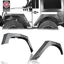Hooke Road Steel Armor Style Front & Rear Fender Flares for 2007-2018 Jeep Wrangler JK (4PCS)