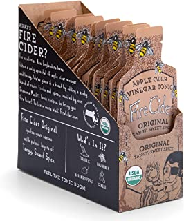 NEW! Fire Cider, 1 oz Super Shots(12-pack), Original flavor, Apple Cider Vinegar Tonic, Pure & Raw, All Certified Organic Ingredients, Not Heat Processed, Not Pasteurized, Paleo, Keto.